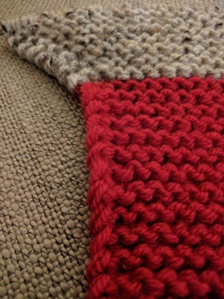 Been a while since I worked on a simple garter stitch project. Love the simplicity.
